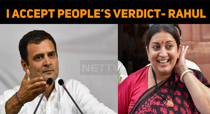 Rahul Accepts People's Verdict! Congratulates Smriti Irani!