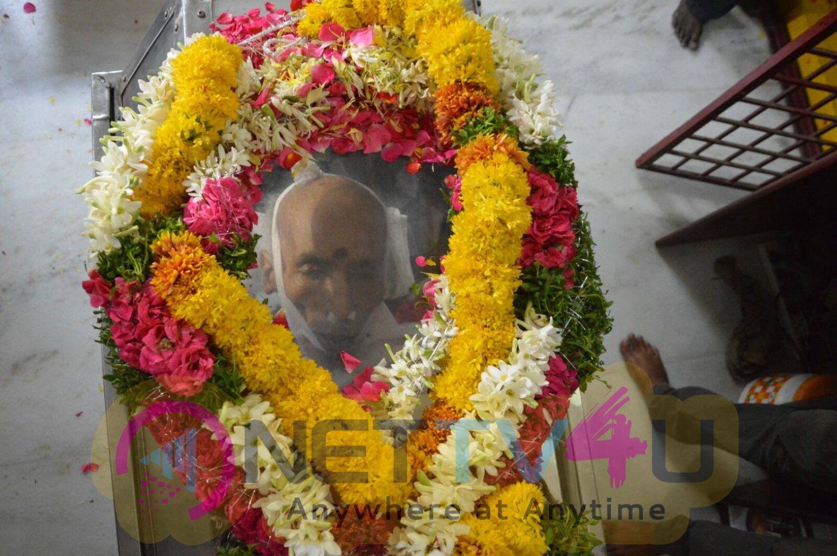 Chiranjeevi And Allu Aravind Has Paid Tribute To Nandagopal Exclusive Pics