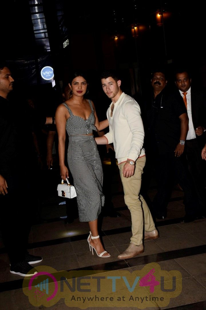 Priyanka Chopra And Nick Jonas Spotted At Yauatcha Restaurant In Mumbai Cute Images