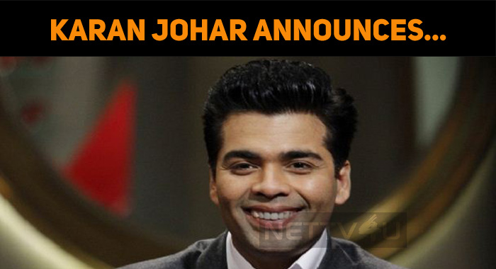 Karan Johar Announced His Next!