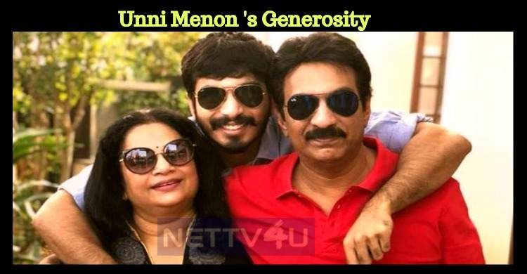Unni Menon Decided To Donate The Amount Saved For His Son's Marriage!