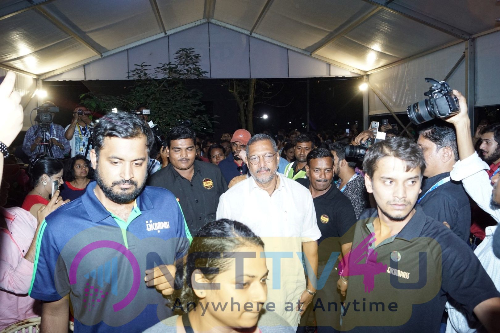Nana Patekar & Manoj Joshi Visits Bioscope At IFFI 2017 Stills