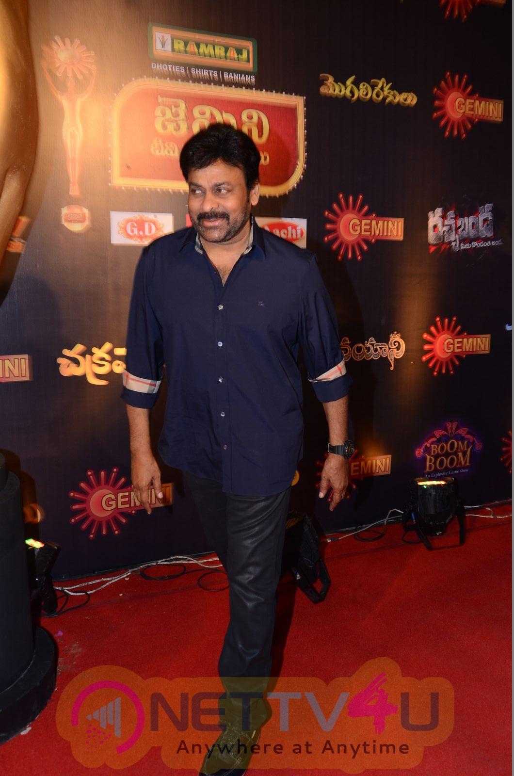 Actor Chiranjeevi Stills  At Gemini TV Puraskaralu 2016