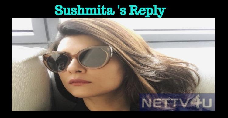 Sushmita's Respectful Reply To Her Followers!