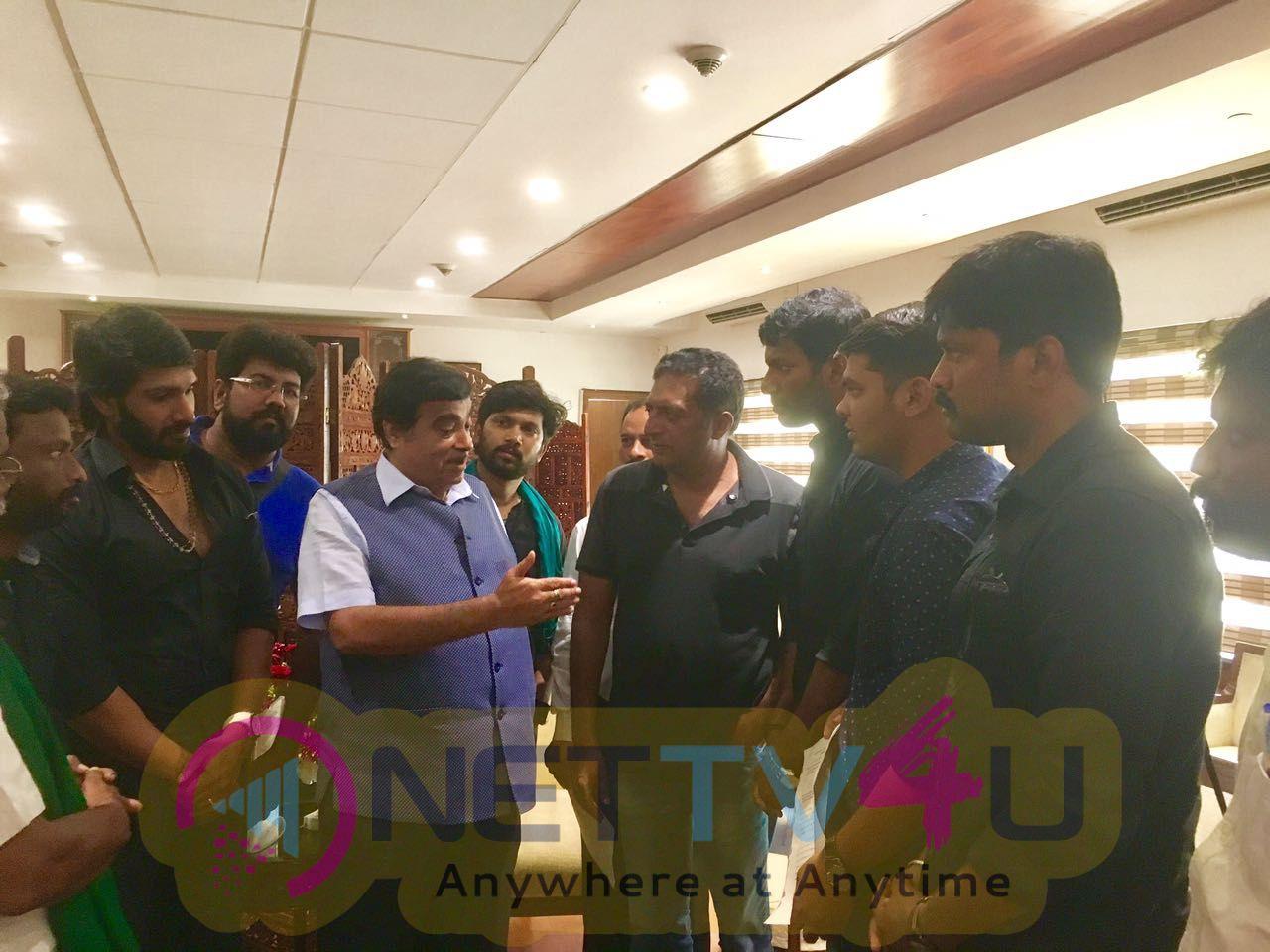 Stills Of Vishal Team Meets Central Minister