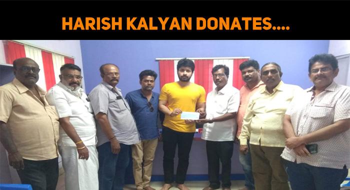 Harish Kalyan Donates…