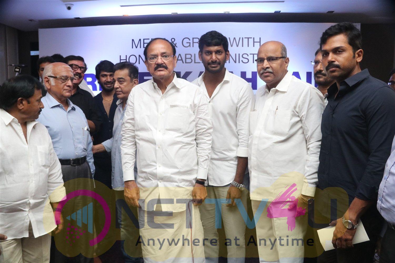 Venkaiah Naidu Press Meet Stills