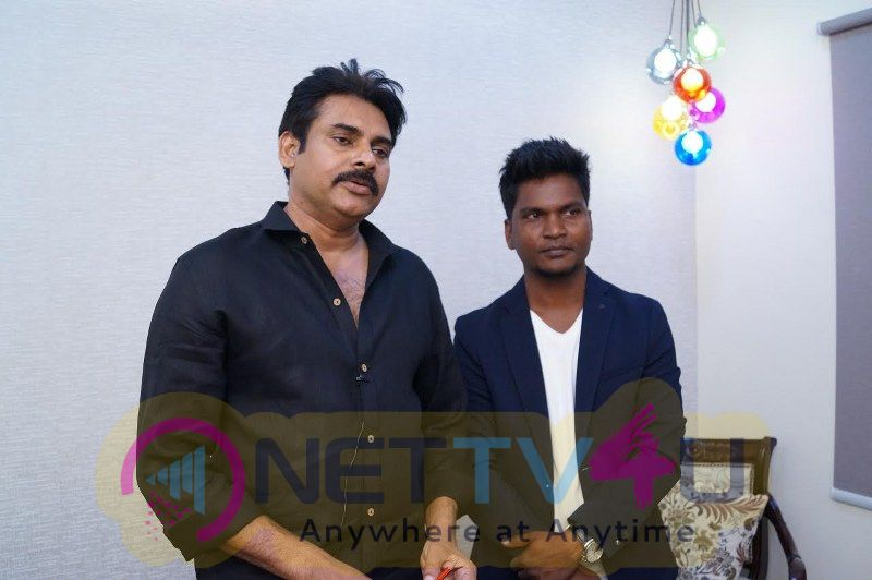 Salon Opening With Pawan Kalyan Grand Pics
