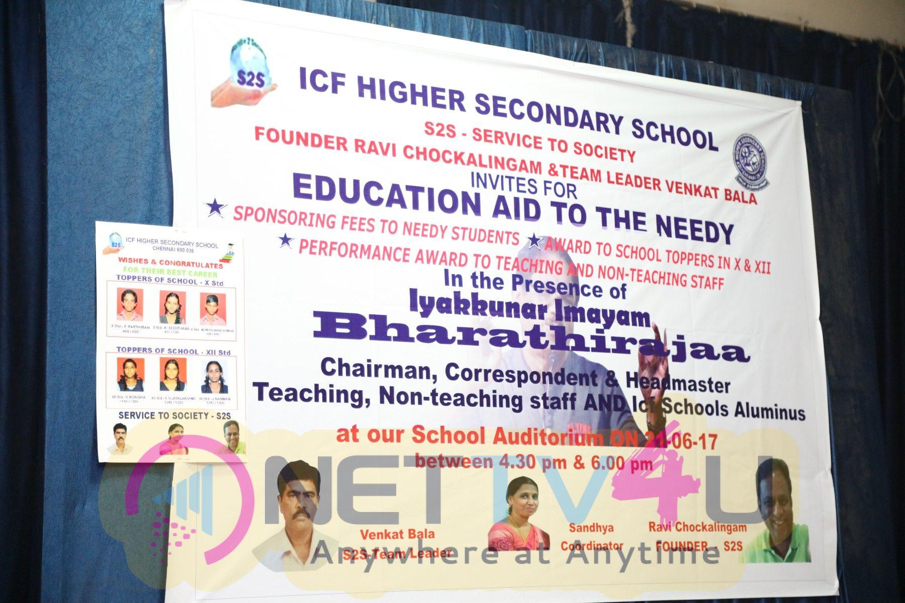 Iyakunar Imayam Bharathiraja At Service To Society (S2S) 6th Educational AID Program - ICF Higher Secondary School Photos
