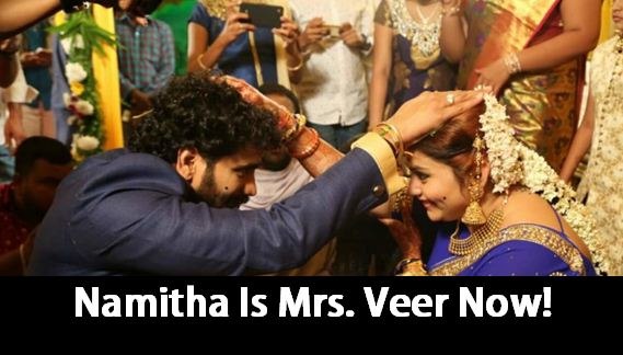 Namitha Ties The Knot With Veer In Tirupati!
