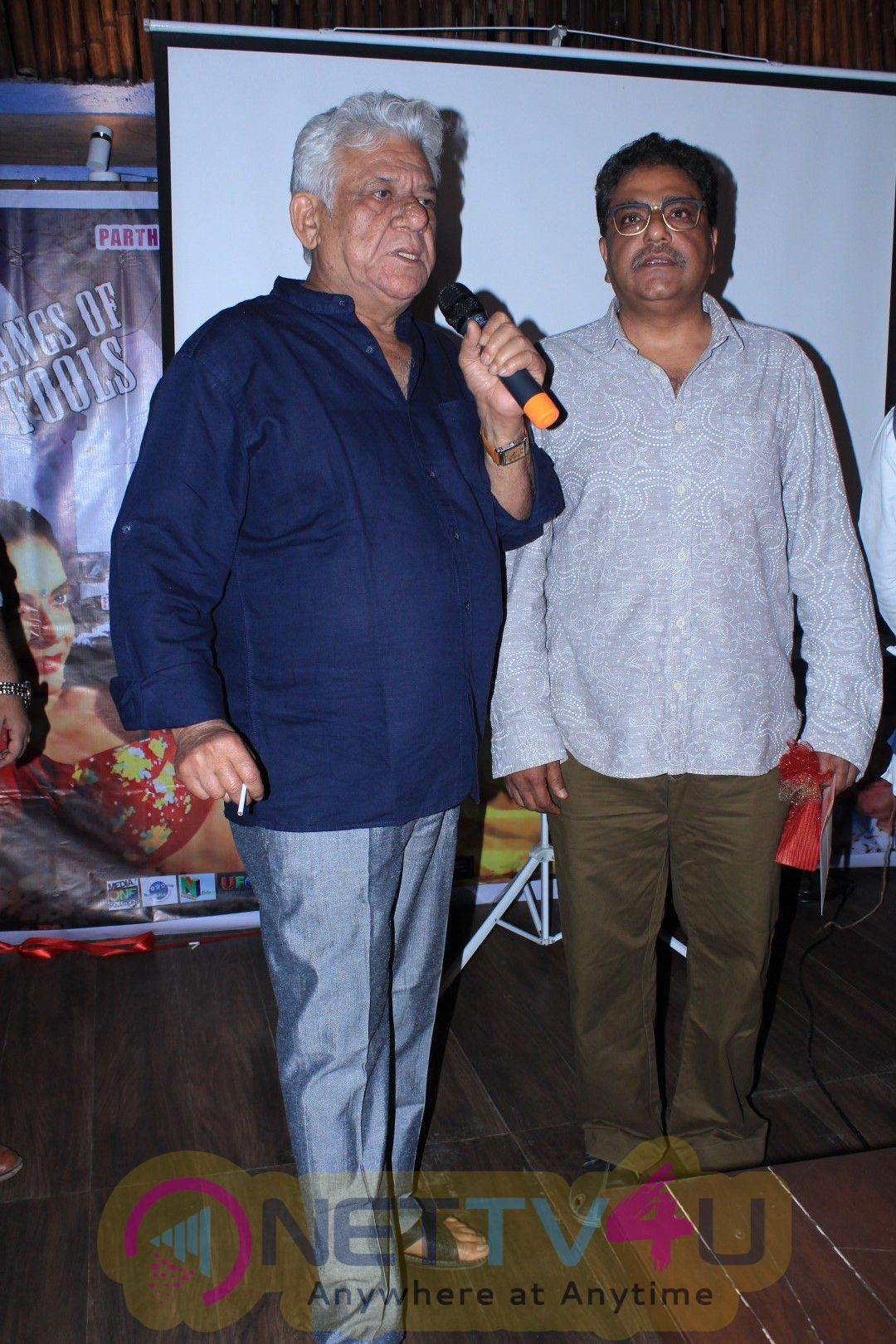 Actor Om Puri At Trailer Launch Of Rambhajan Zindabad Photos Hindi Gallery