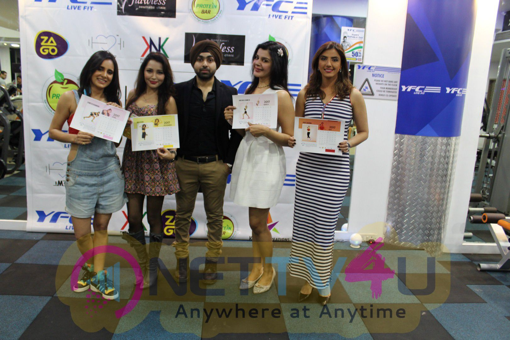 Celebs At Launch Of First Fitness Calendar Of The Year I Am Fit Calender 2017 Stills