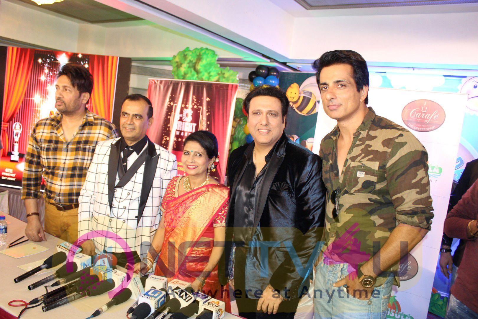 Govinda,Sonu Sood,Yogesh Lakhani & Satish Shetty To Unveil 3rd Bright Award Trophy Stills Hindi Gallery