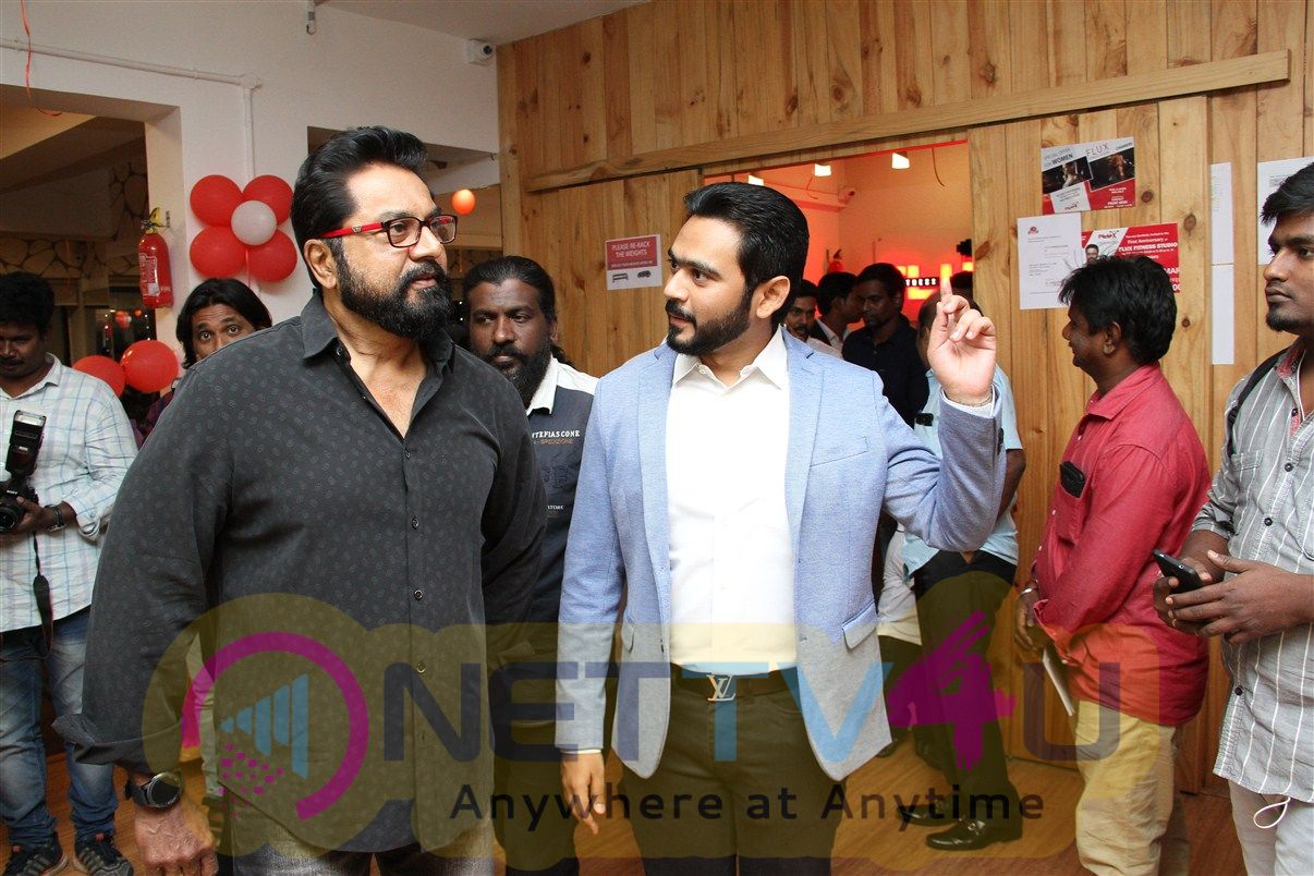 Actor Sarath Kumar Launches Flux Fitness Studio Pics