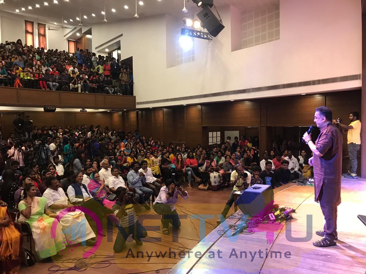 Makkal Needhi Maiam Party President Mr Kamal Haasan At WCC Pics Tamil Gallery