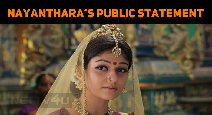 Nayanthara Issues A Public Statement! The Radha Ravi Effect!