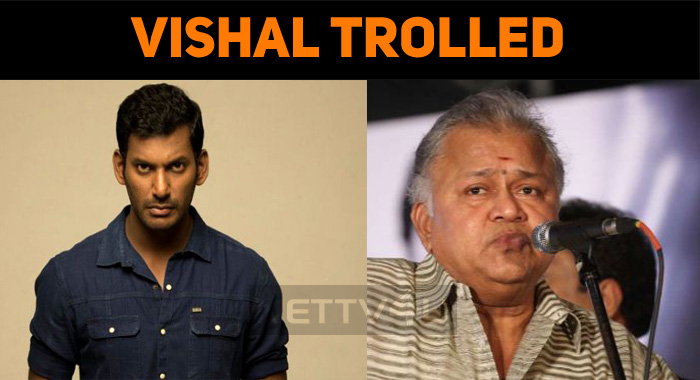 Vishal Trolled For His Comment Against Radha Ravi!