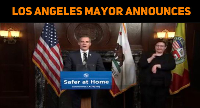 Los Angeles Mayor Announces Power And Water Shu..