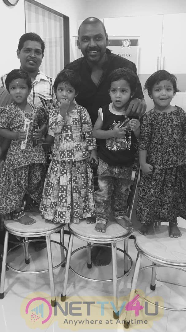 Stills Of Raghava Lawrence Adopted 4 Children