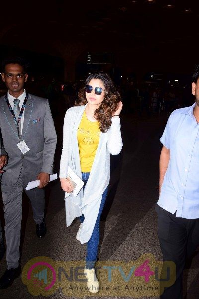 Urvashi Rautela Spotted At Airport