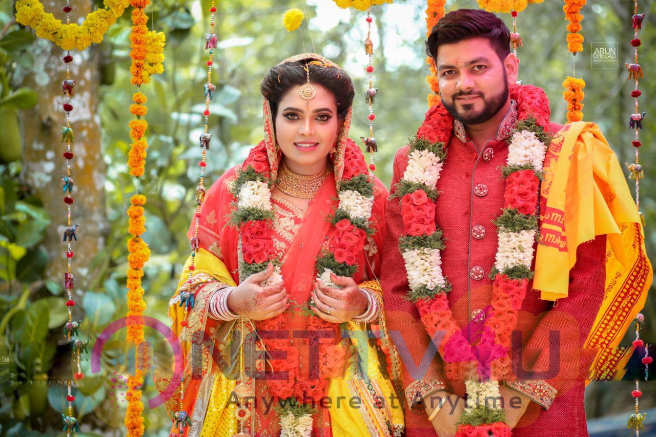 Actress Ishara Nair - Sahil Wedding Images