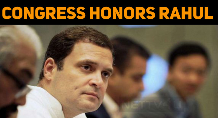 Congress Party Honors Rahul Gandhi!