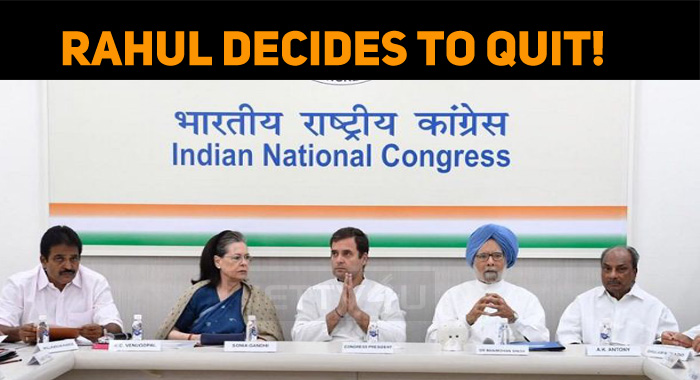 Rahul Gandhi Decides To Quit!