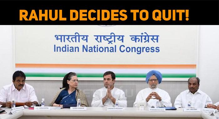 Rahul Gandhi Decides To Quit!