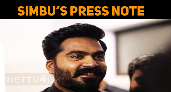 Simbu Releases A Press Note!