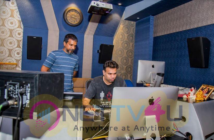 Premji Amaran Composing A New Song For The Movie RK Nagar Audio Recording Pics Tamil Gallery
