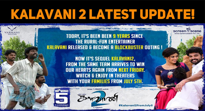 Kalavani 2 Latest Update!