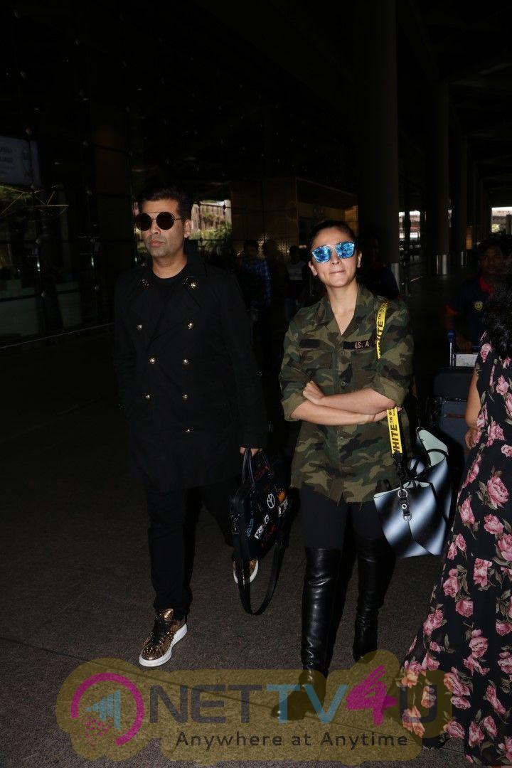 Images Of Alia Bhatt & Karan Johar Spotted At Airport
