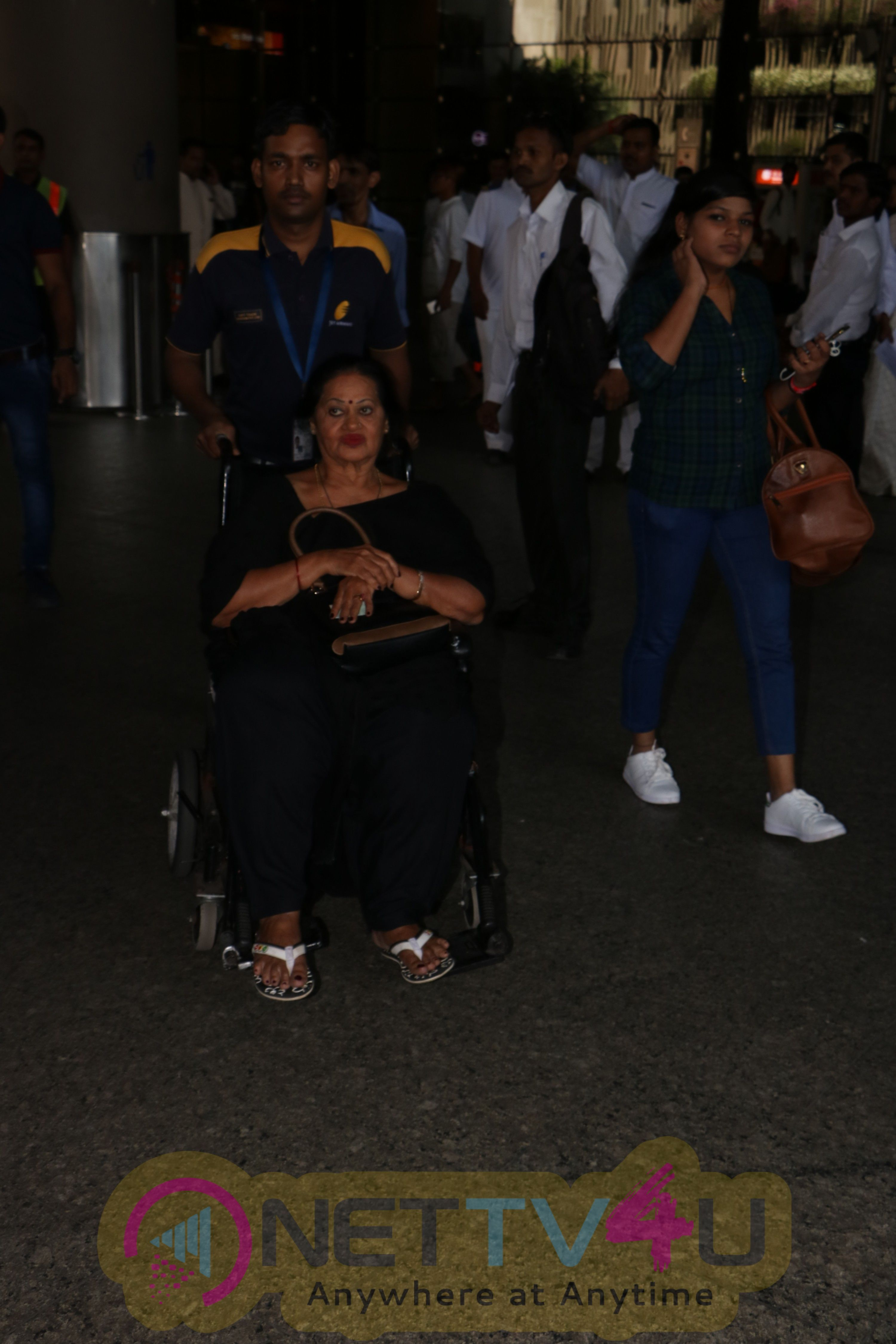 Stills Of Ajay Devgan Spotted With His Family At The Airport
