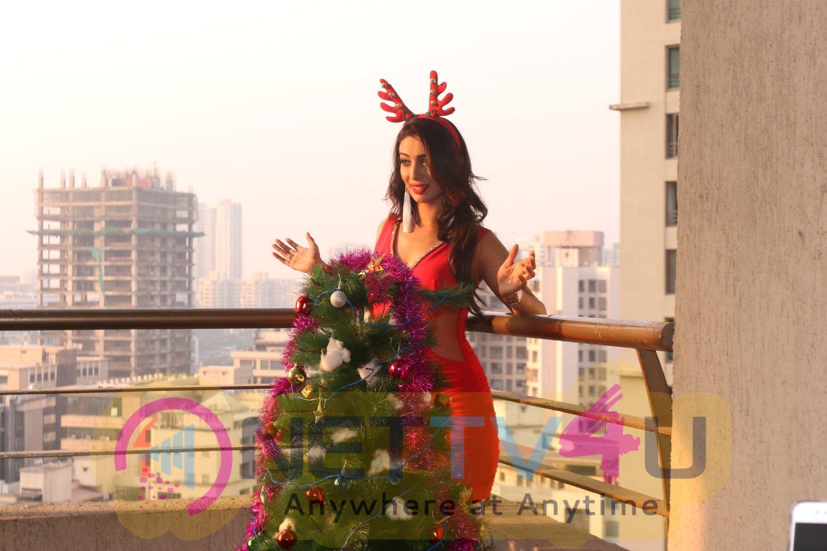 Actress Heena Panchal As Sexy Santa Christmas Photo Shoot