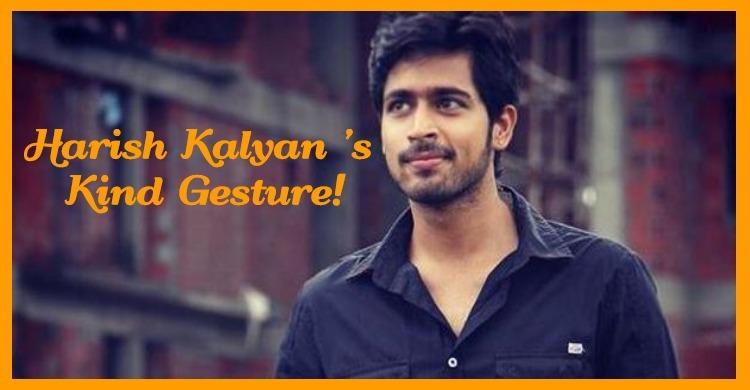 Harish Kalyan's Kind Gesture!