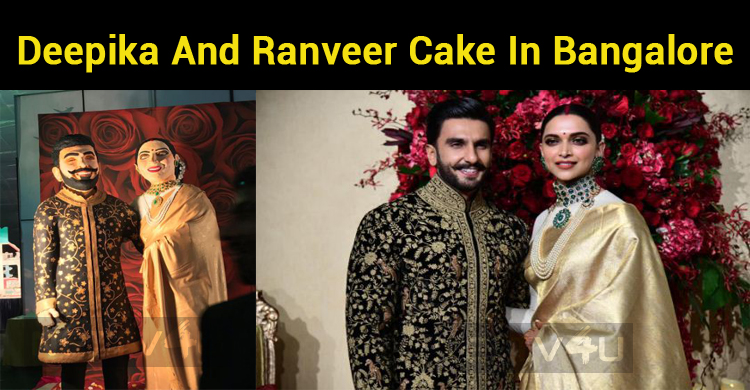Deepika And Ranveer Cake In Bangalore!