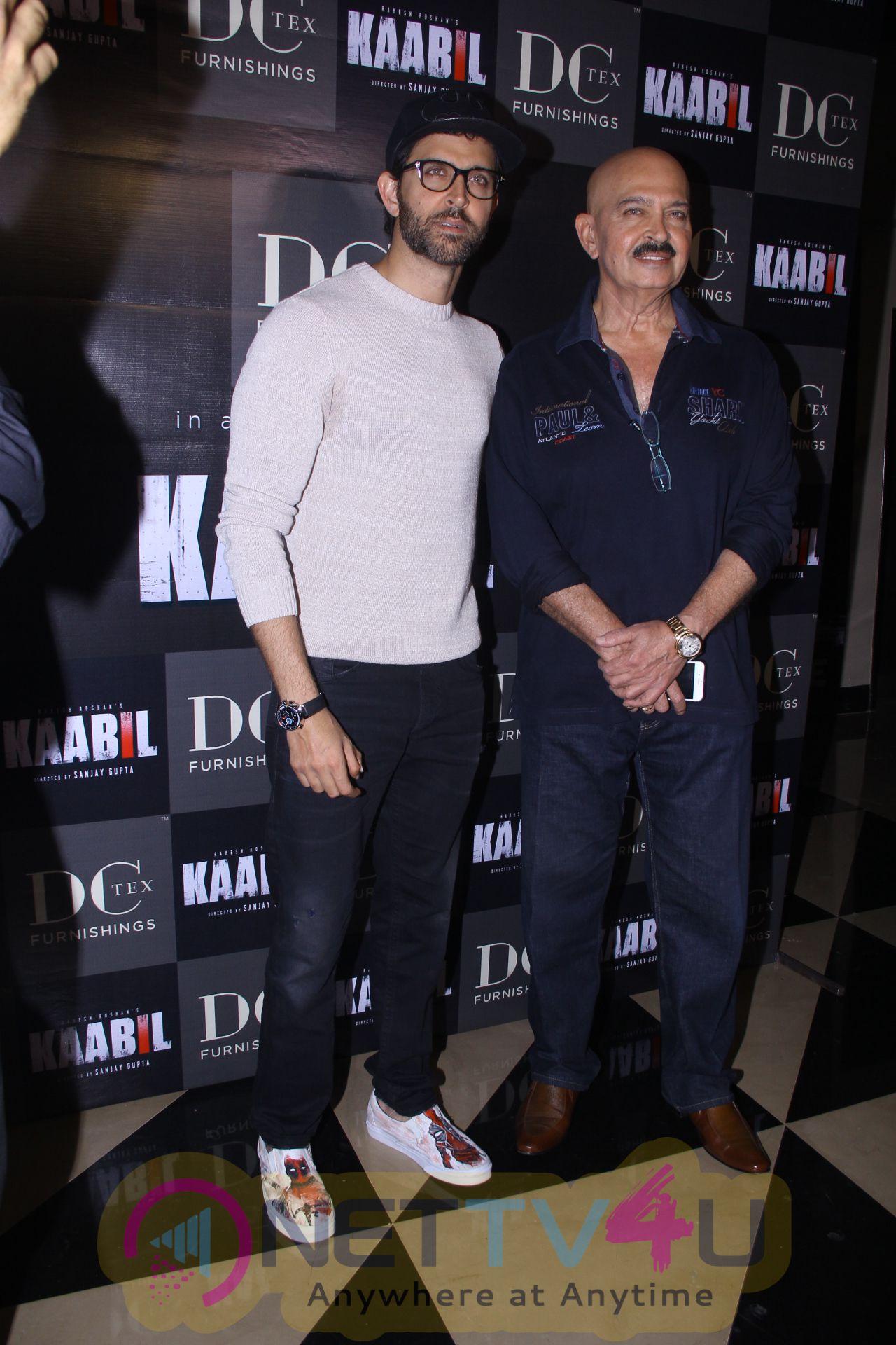 Hrithik Roshan & Rakesh Roshan At Special Screening Of Film Kaabil Stills