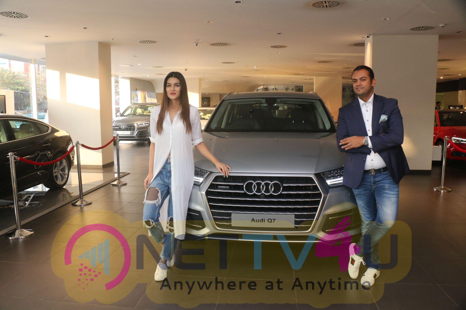 Kriti Sanon Taking The Delivery Of The Audi Q7 Stills Hindi Gallery