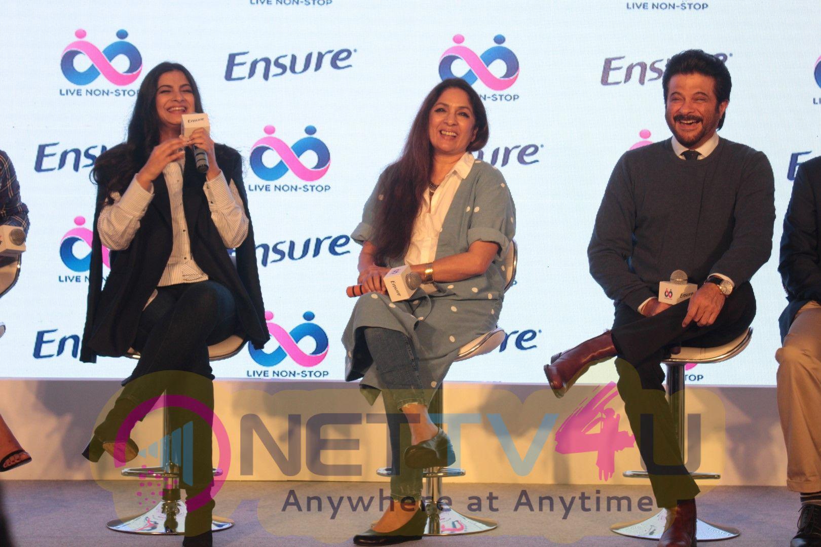 Anil Kapoor & Rhea Kapoor At Launch Of Ensure Dreams Survey 2017