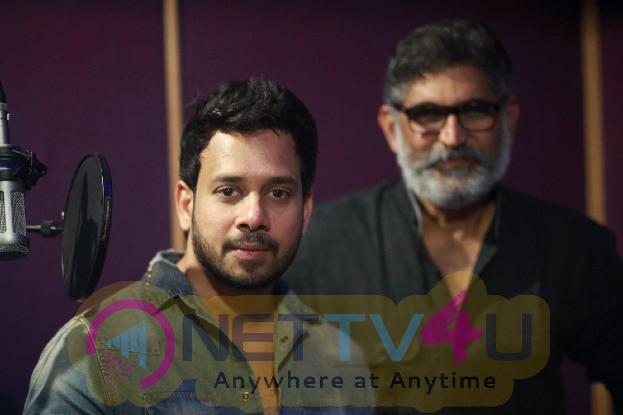 Actor Bharath At Kalidas Movie Dubbing Pics Tamil Gallery