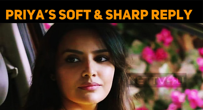 Priya Anand's Sharp Reply On Twitter!