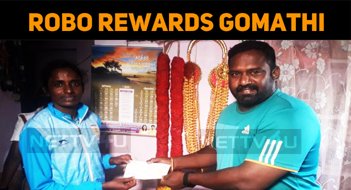Robo Shankar Handed Over The Reward Cheque To Gomathi!