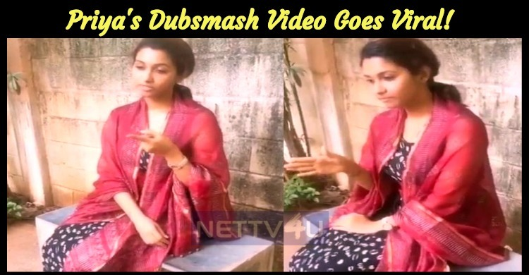 Priya Bhavani Shankar Dubsmash Video Goes Viral!