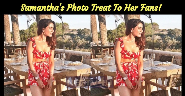 Samantha's Photo Treat To Her Fans!