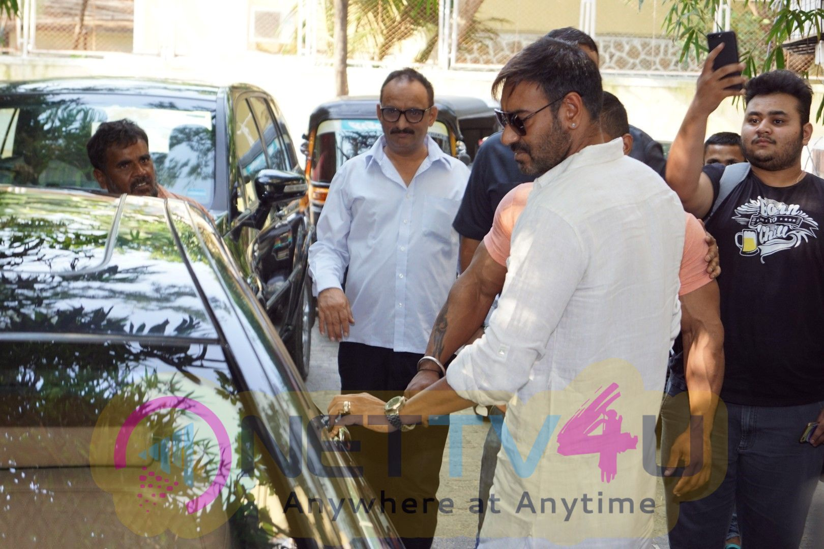 Ajay Devgan Watching Golmaal Again With His Family At Sunny Super Sound Images