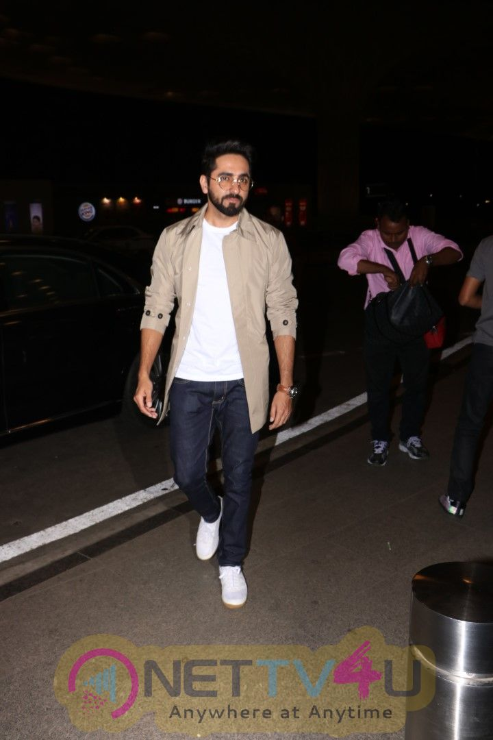 Ayushmann Khurrana Spotted At Airport Stills