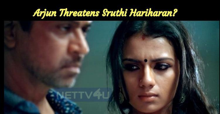 Arjun Threatens Sruthi Hariharan? Sruthi Files ..