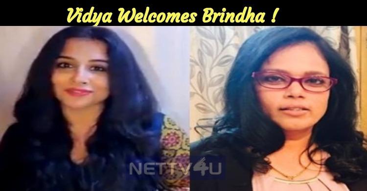 Vidya Balan Welcomes Choreographer Brinda Via V..