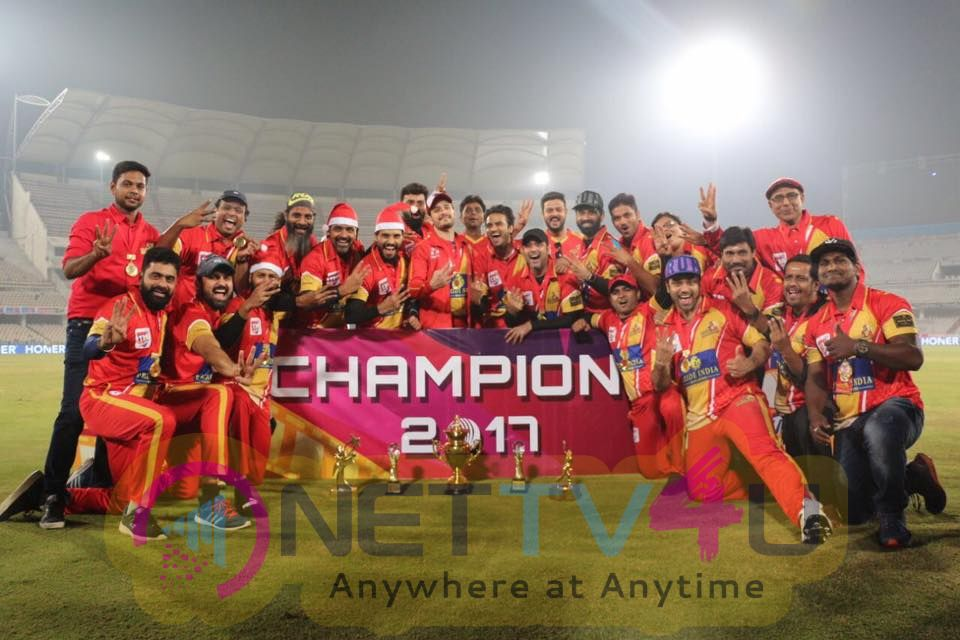 Celebrity Cricket League  T10 Blast  Telugu Warriors Won The Match Images