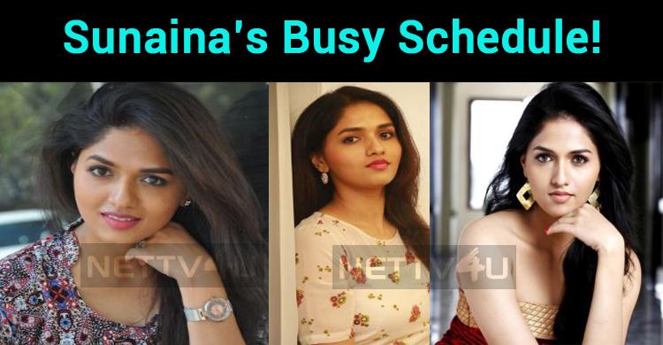 Sunaina's Busy Schedule!